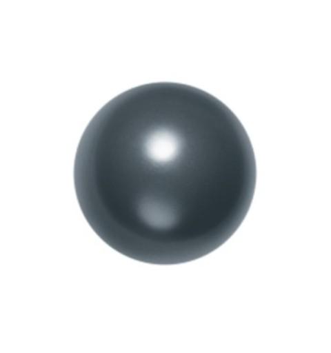 6MM Crystal Black Round Half Drilled Pearl (001 298) 5818 SWAROVSKI ELEMENTS