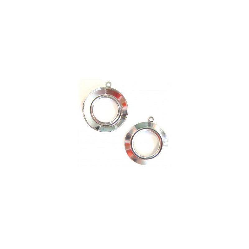 20mm setting for Cosmic Ring Swarovski 4139 silver plated with eye