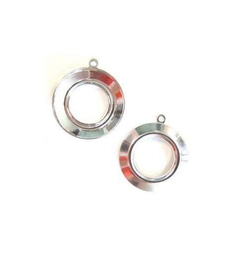 20mm Cosmic Ring-ile Swarovski 4139 toorik hõbetatud rõngaga