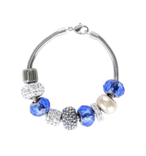 180mm BeCharmed Bracelet (80 000) Rhodium Plating Swarovski Elements