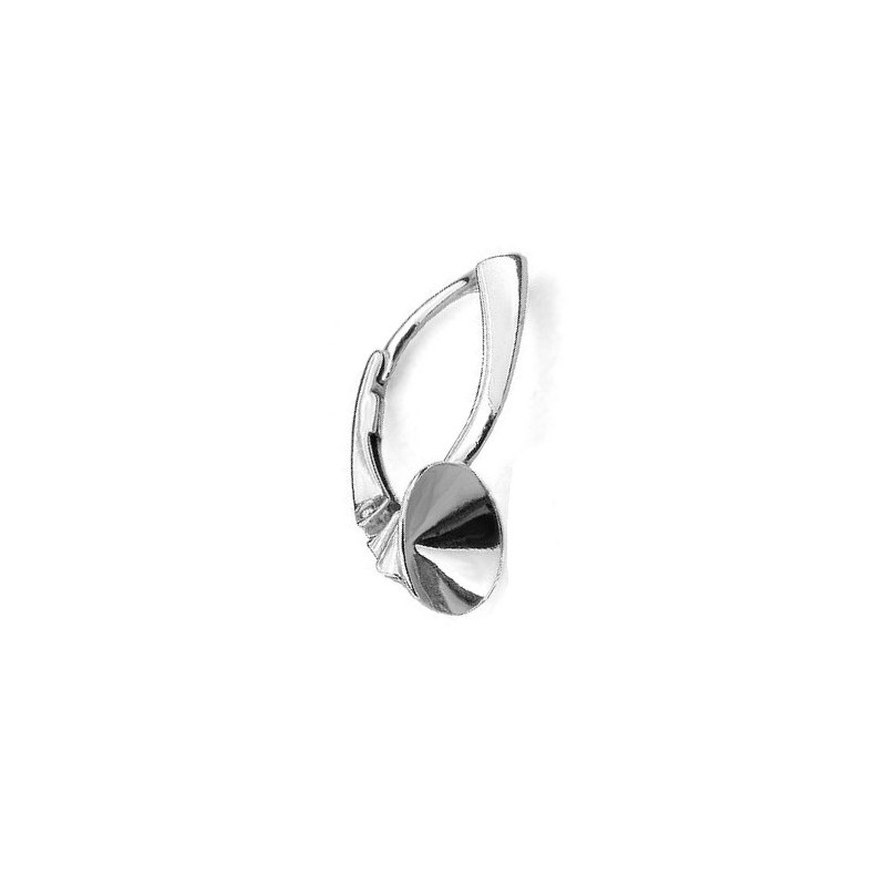 For 1088 SS39(~8,30mm) approx. 21,4X8,3mm Swarovski Silver Lever back with setting