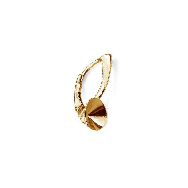 For 1088 SS39 (~8,30mm) approx. 21,4X8,3mm Swarovski Silver Gold Plated Lever back with setting