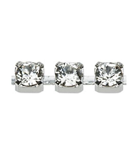 PP18(~ 2.6mm) Rhodium pinnatud kristall F Swarovski Elements kett