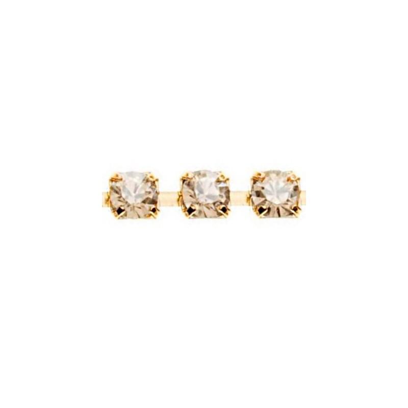PP14(~ 2.2mm) Kullaga pinnatud Crystal Golden Shadow F Swarovski Elements kett