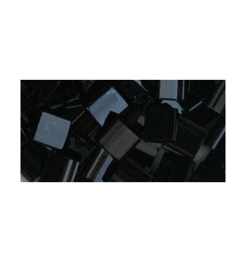 TL-401 Opaque Black Miyuki Tila SEED BEADS