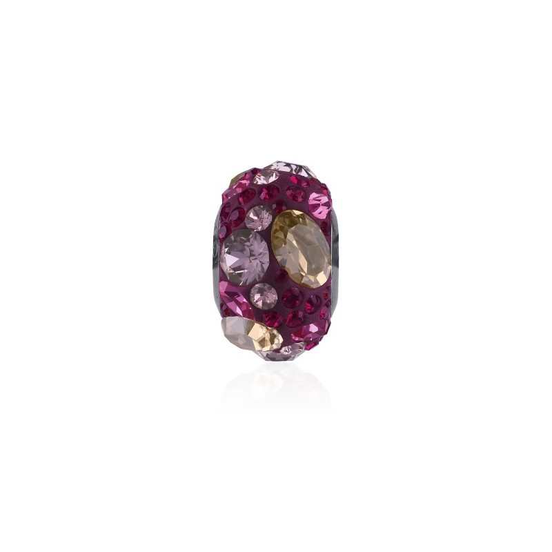 14mm Crystal Golden Shadow (001 GSHA) 81304 BeCharmed Pavé Medley Bead Swarovski Elements