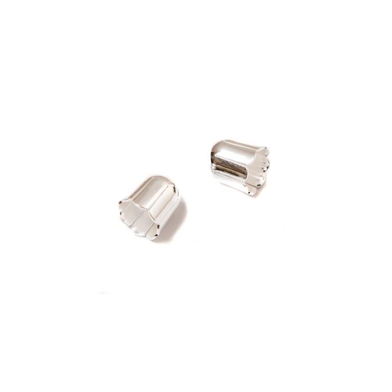 Колпачёк для бусин (Обниматель) 9mm KP01S покрытый серебром