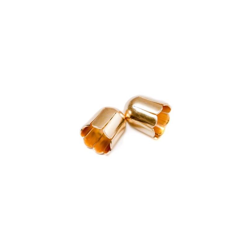 Колпачёк для бусин (Обниматель) 9mm KP01G позолоченый