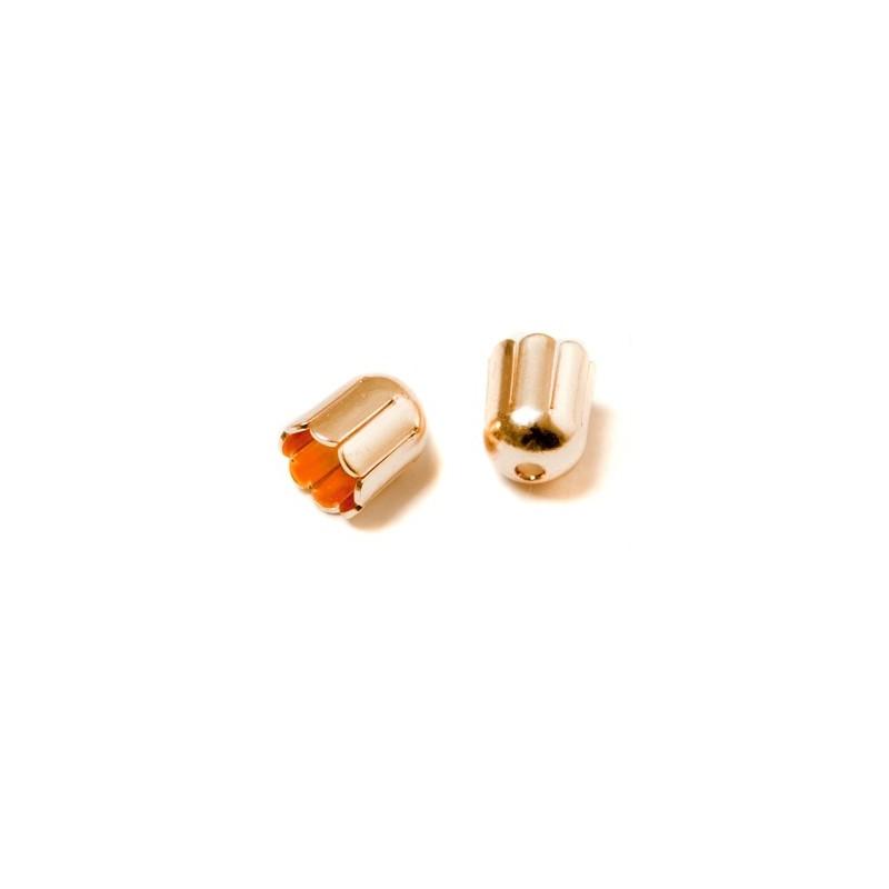 Колпачёк для бусин (Обниматель) 6mm KP02G позолоченый