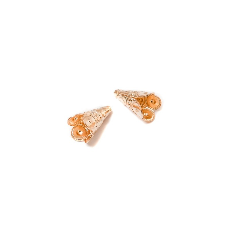 Bead Cup 9mm KP06G gold plated