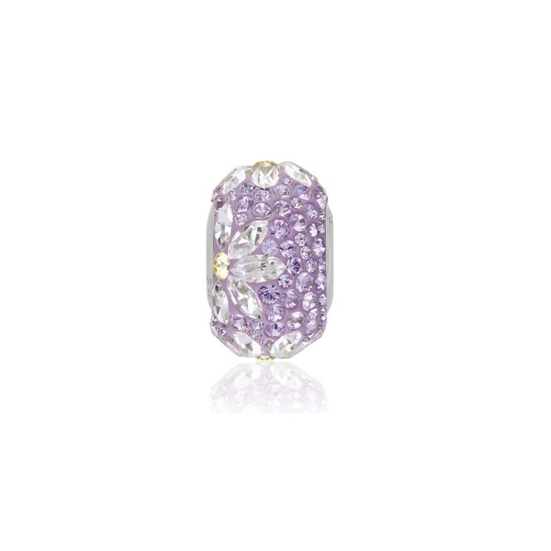 14mm BeCharmed Pavé Daisy 81743 Purple Helmed Swarovski Elements
