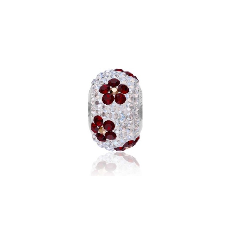 14mm BeCharmed Pavé Poppy 81753 Siam Bead Swarovski Elements