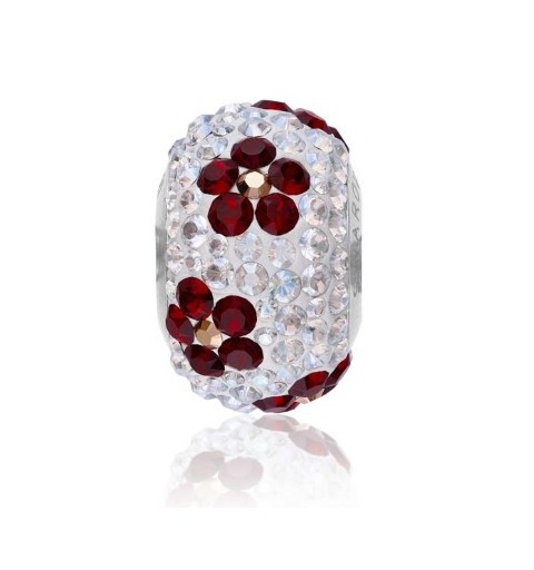 14mm BeCharmed Pavé Poppy 81753 Siam Helmed Swarovski Elements