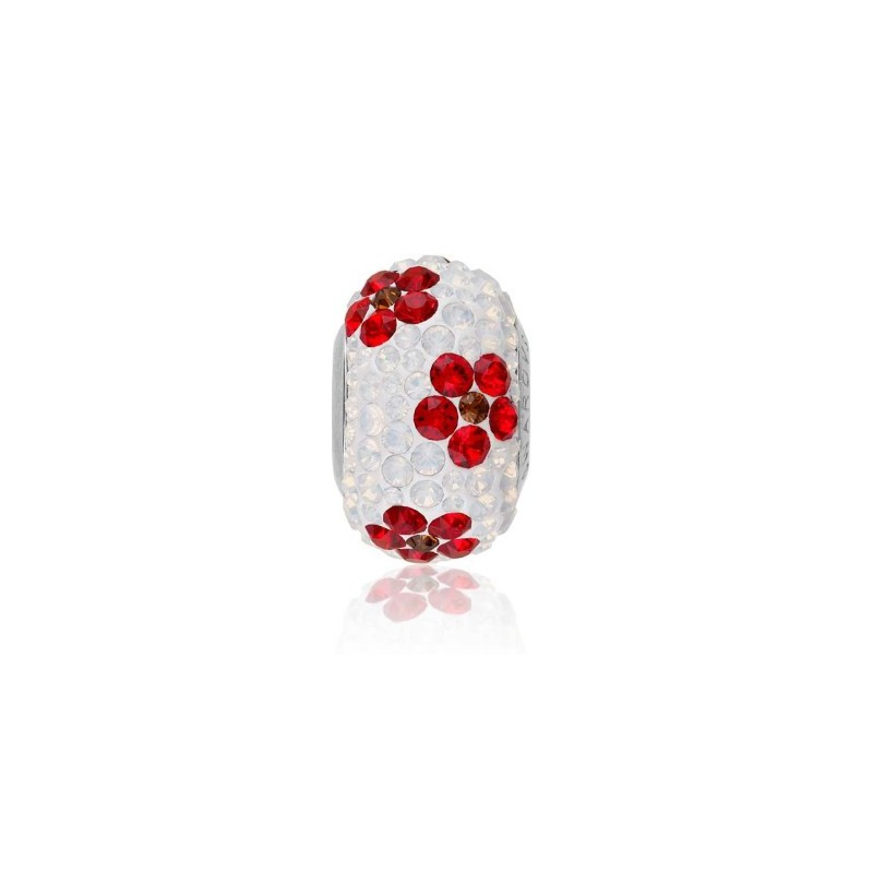 14mm BeCharmed Pavé Poppy 81753 LightSiam Bead Swarovski Elements