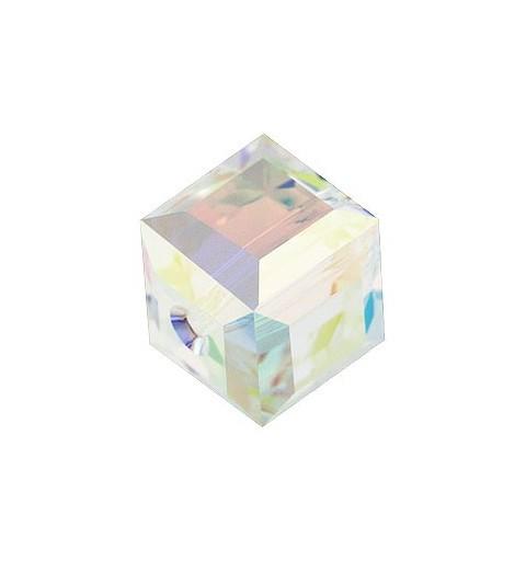6MM Crystal Aurore Boreale B (001 ABB) 5601 Kuubik helmed SWAROVSKI ELEMENTS