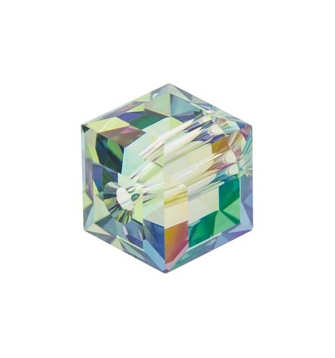 6MM Crystal Paradise Shine B (001 PARSB) 5601 Cube Bead SWAROVSKI ELEMENTS