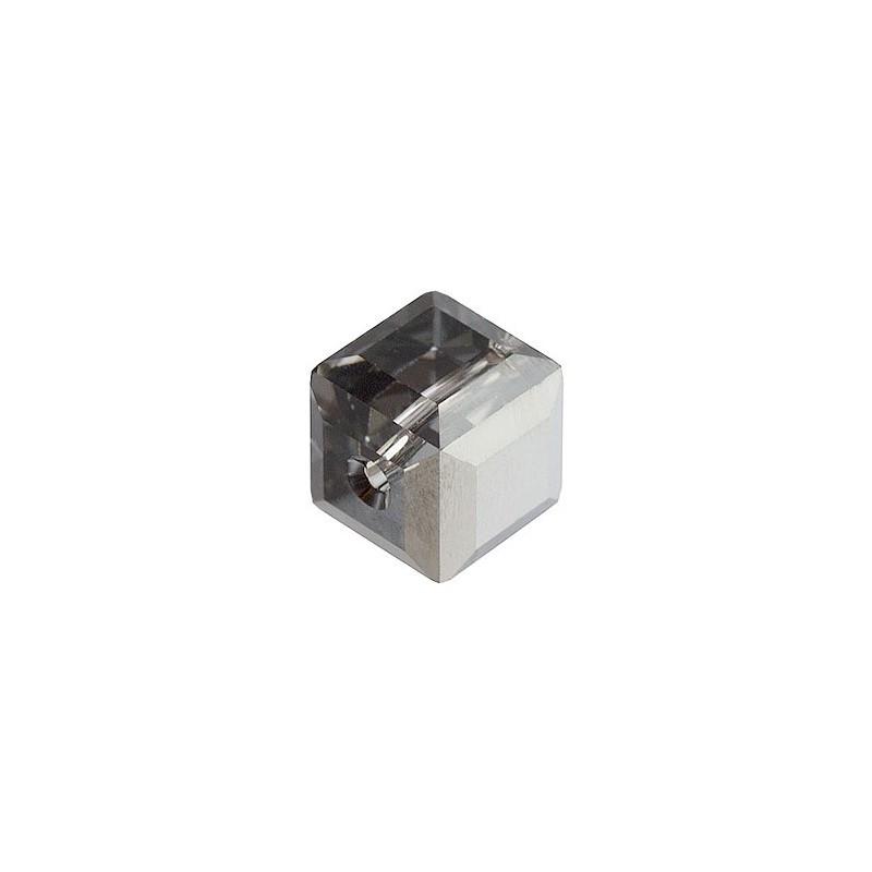 6MM Crystal Silver Night 'B' (001 SINIB) 5601 Cube Bead SWAROVSKI ELEMENTS