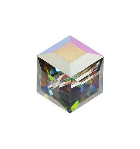 6MM Crystal Vitrail Medium B (001 VMB) 5601 Cube Bead SWAROVSKI ELEMENTS