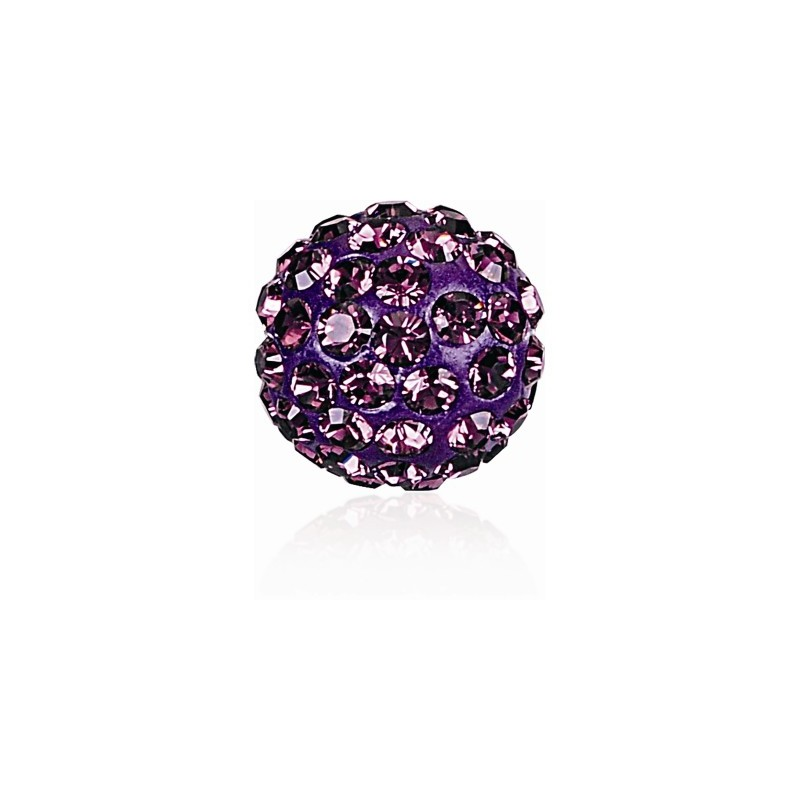 8MM Amethyst (204) Pavé Ball Beads SWAROVSKI ELEMENTS