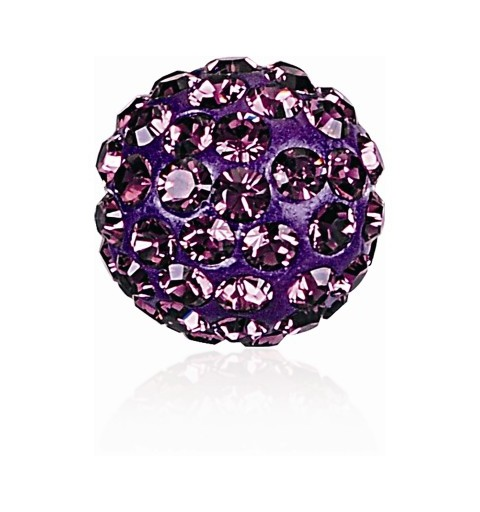 10MM Amethyst (204) Pavé Ball Beads SWAROVSKI ELEMENTS