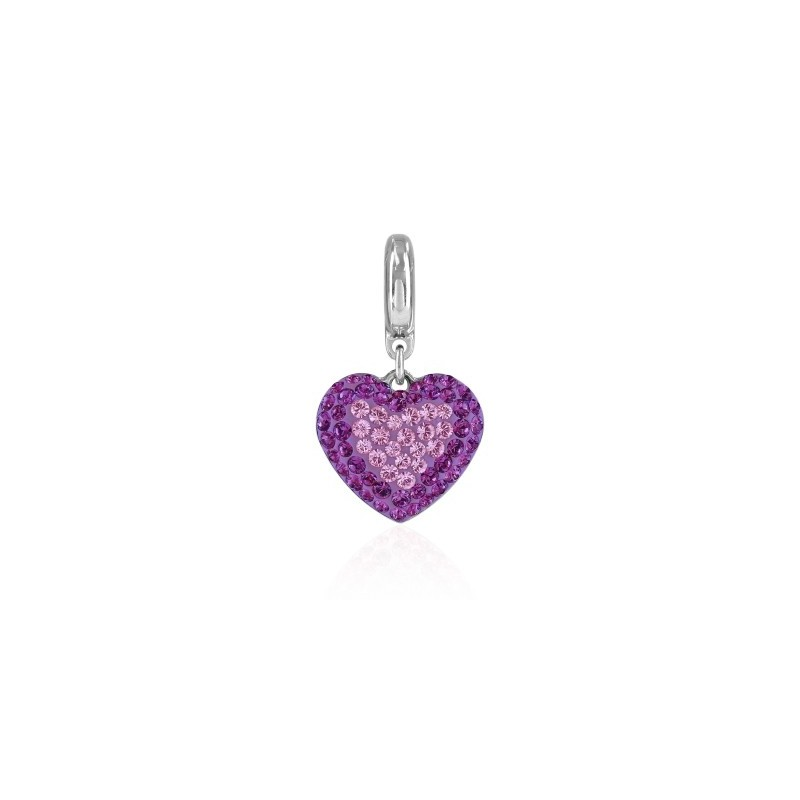 14mm BeCharmed Pavé Сердце Charm 86502 Light Amethyst Swarovski Elements