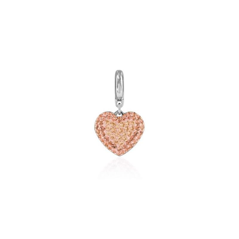 14mm BeCharmed Pavé Heart Charm 86502 Silk Swarovski Elements