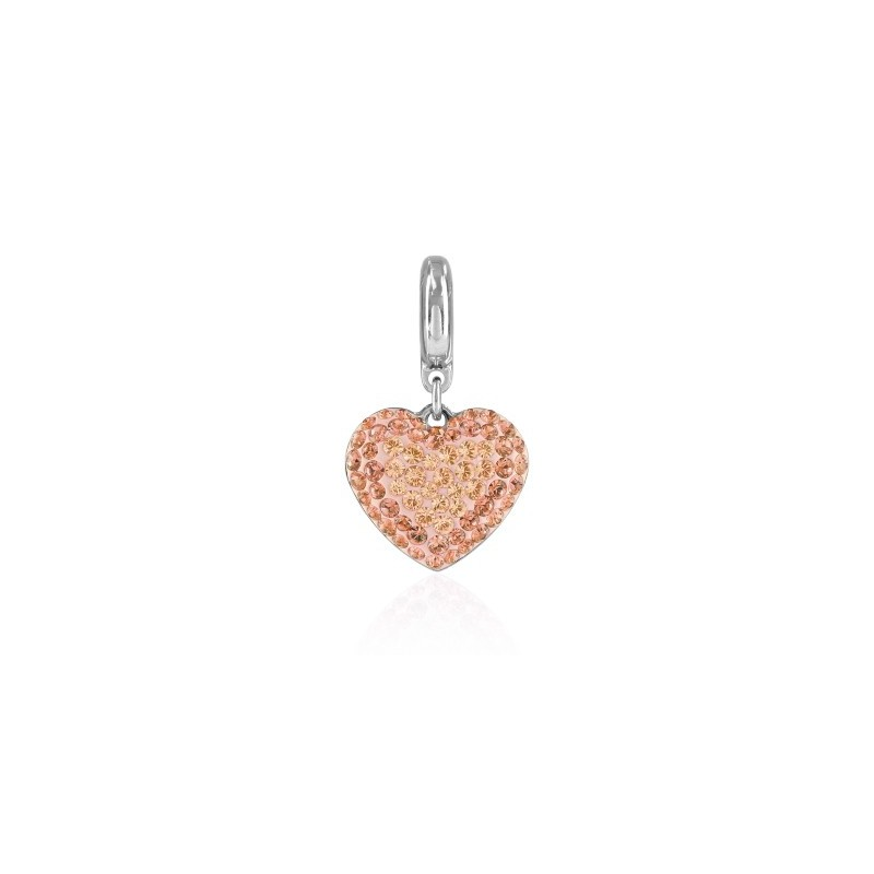 14mm BeCharmed Pavé Сердце Charm 86502 Silk Swarovski Elements