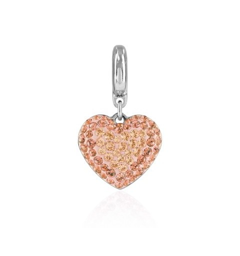 14mm BeCharmed Pavé Heart Charm 86502 Silk Swarovski Elements