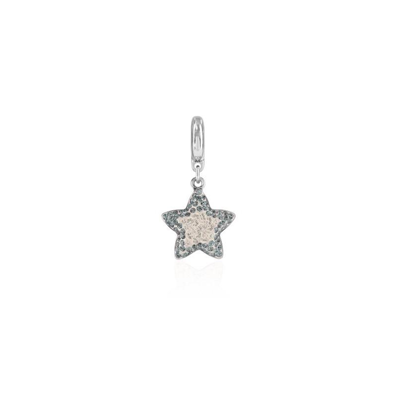 14mm BeCharmed Pavé Star Charm 86512 Crystal Silver Shade Swarovski Elements