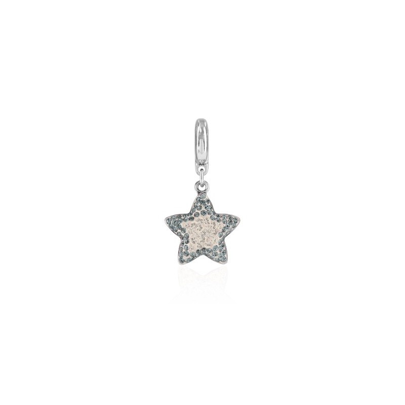 14mm BeCharmed Pavé Звезда Charm 86512 Crystal Silver Shade Swarovski Elements