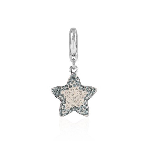 14mm BeCharmed Pavé Star Charm 86512 Crystal Silver Shade Swarovski Elements
