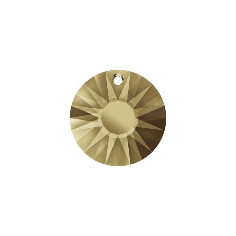 19MM Crystal Golden Shadow 'V' (001 GSHAV) Sun Pendant partly frosted 6724/G SWAROVSKI ELEMENTS