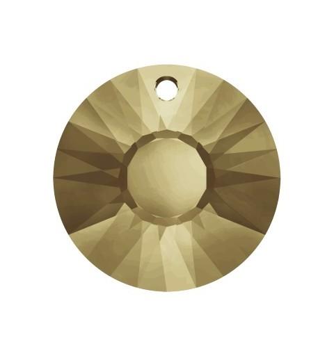 19MM Crystal Golden Shadow (001 GSHAV) Sun Pendant 6724 SWAROVSKI ELEMENTS