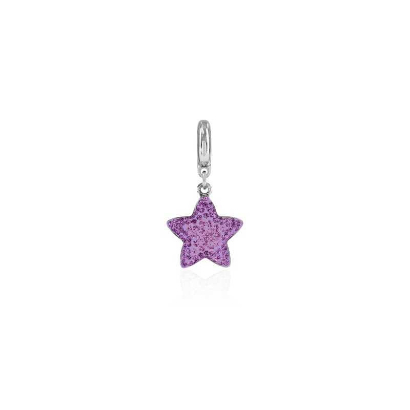 14mm BeCharmed Pavé Star Charm 86512 Amethyst (204) Swarovski Elements