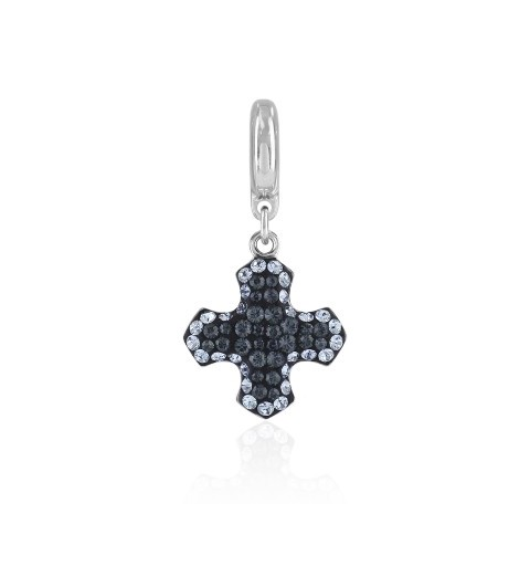 14mm BeCharmed Pavé Greek Rist Charm 86522 Light Sapphire (211) Swarovski Elements