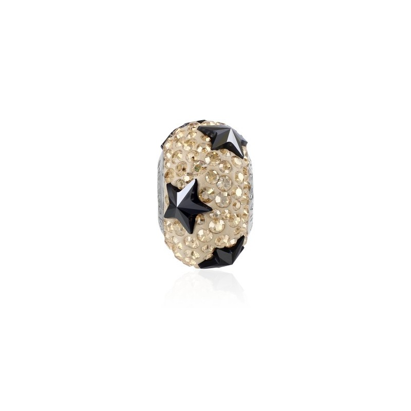 15mm BeCharmed Pavé Star 81712 Jet Hematite (280 HEM) Bead Swarovski Elements