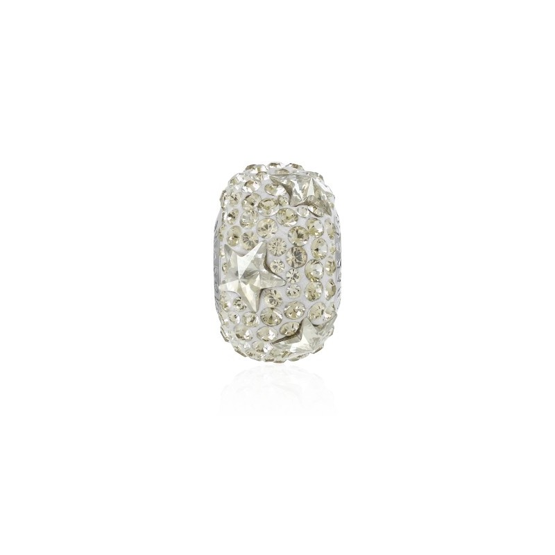 15mm BeCharmed Pavé Star 81712 Greige (284) Bead Swarovski Elements