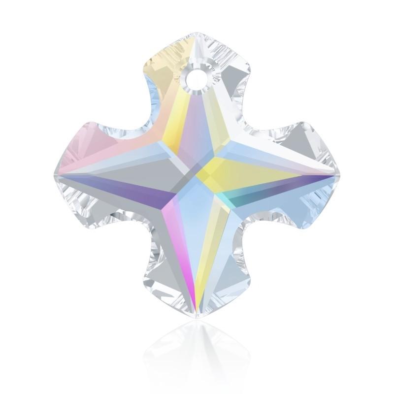 14MM Crystal AB (001 AB) Greek Cross Pendant 6867 SWAROVSKI ELEMENTS