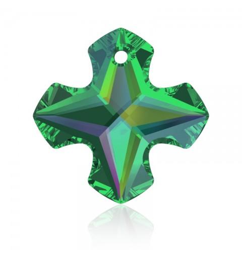 18MM Crystal Vitrail Medium P (001 VM) Greek Cross Pendant 6867 SWAROVSKI ELEMENTS