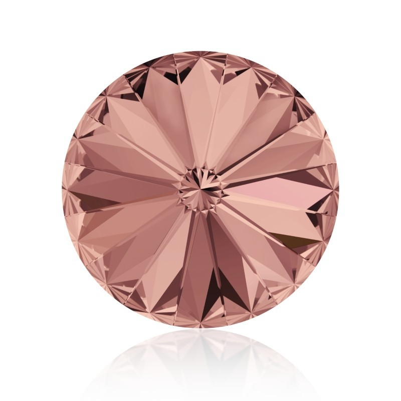 12MM Blush Rose F (257) 1122 Rivoli Chaton SWAROVSKI ELEMENTS