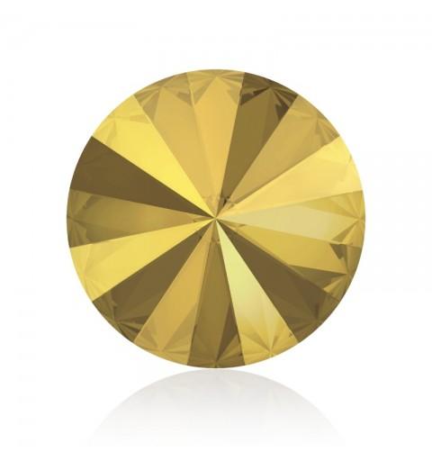 12MM Crystal Metallic Sunshine F (001 METSH) 1122 Rivoli Chaton SWAROVSKI ELEMENTS