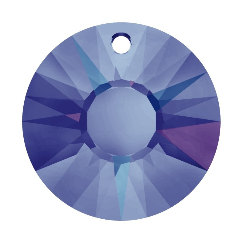 19MM Crystal Heliotrope P (001 HEL) Sun Pendant 6724 SWAROVSKI ELEMENTS