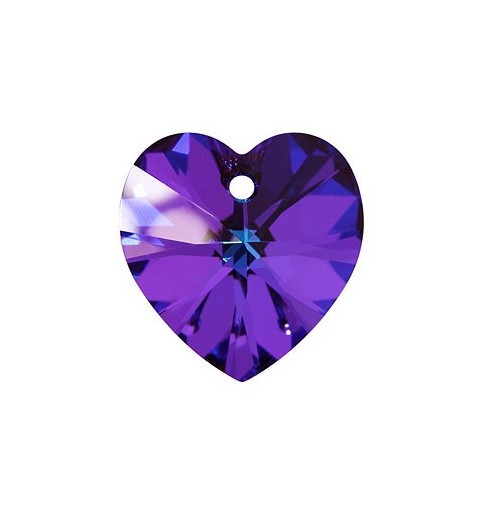 10.3x10MM Crystal Heliotrope (001 HEL) XILION Heart Pendants 6228 SWAROVSKI ELEMENTS