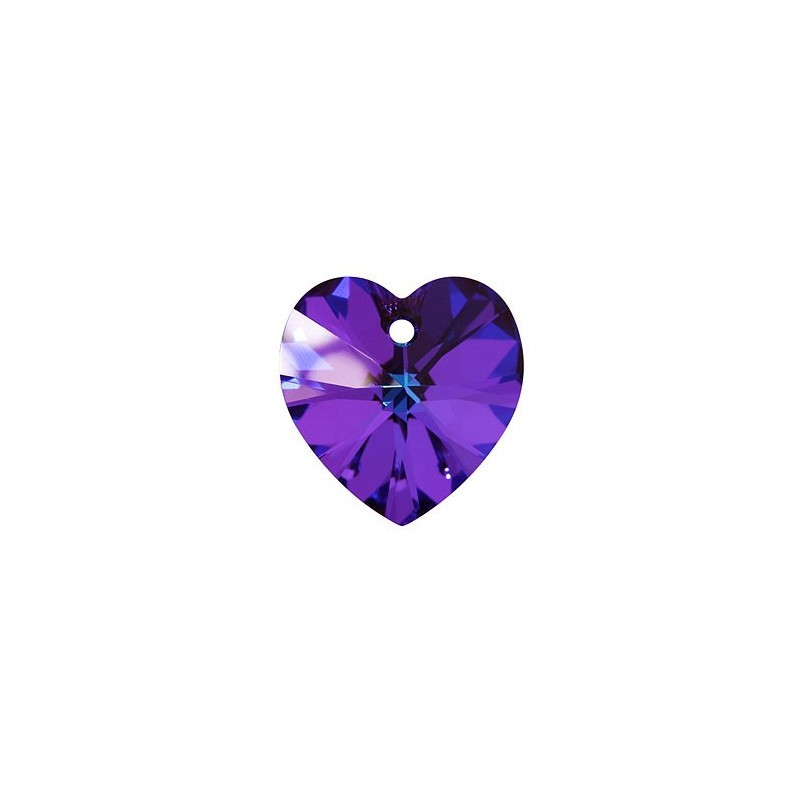 14.4x14MM Crystal Heliotrope (001 HEL) XILION Heart Pendants 6228 SWAROVSKI ELEMENTS