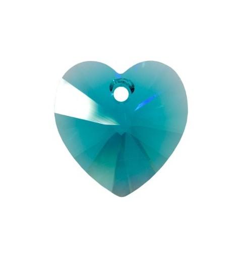 10.3x10MM Blue Zircon (229) XILION Heart Pendants 6228 SWAROVSKI ELEMENTS