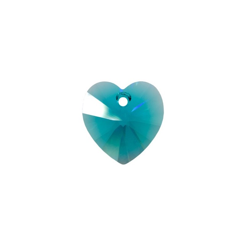 14.4x14MM Blue Zircon (229) XILION Heart Pendants 6228 SWAROVSKI ELEMENTS