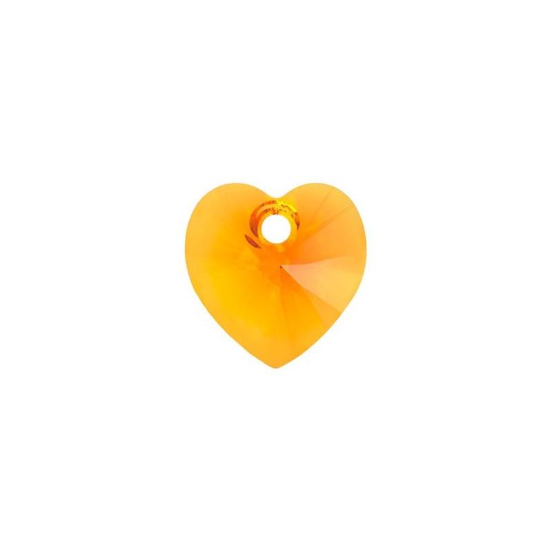 10.3x10MM Tangerine (259) XILION Heart Pendants 6228 SWAROVSKI ELEMENTS