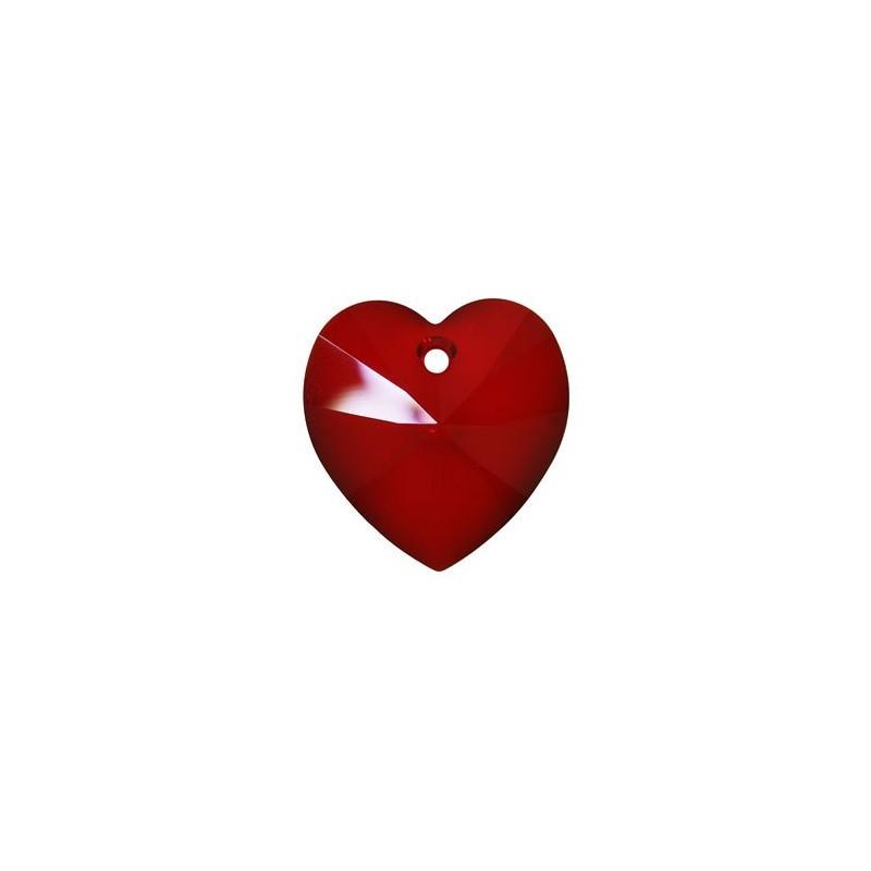 14.4x14MM Siam (208) XILION Heart Pendants 6228 SWAROVSKI ELEMENTS