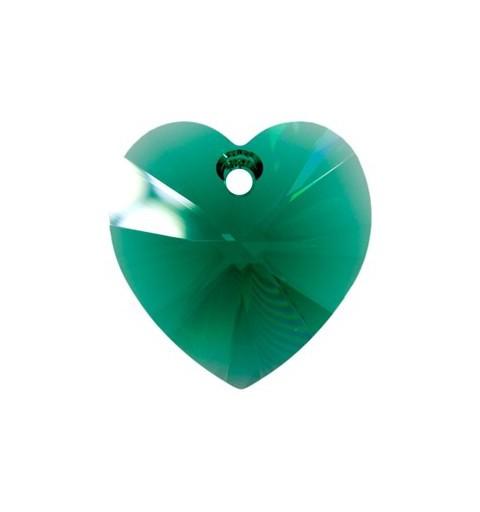 14.4x14MM Emerald (205) XILION Süda Ripatsid 6228 SWAROVSKI ELEMENTS