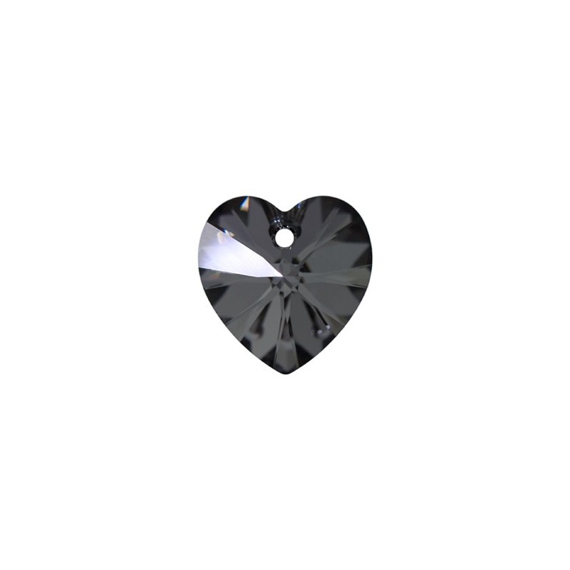 10.3x10MM Crystal Silver Night (001 SINI) XILION Heart Pendants 6228 SWAROVSKI ELEMENTS